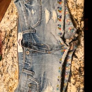 Holllister Jean shorts size 1 -25 waist.